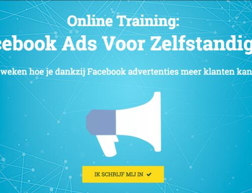 Nieuwe online cursus: Facebook Ads Voor Zelfstandigen