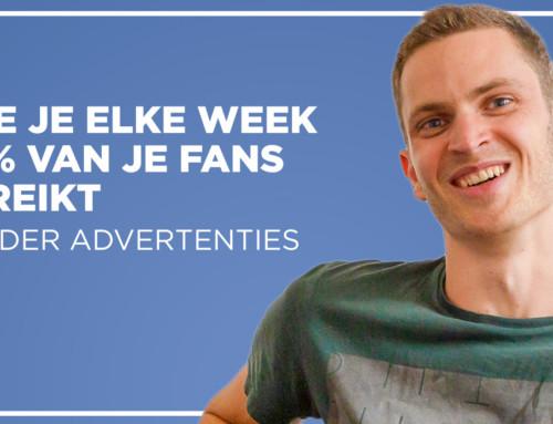 Hoe je elke week 70% van je fans bereikt – zonder advertenties